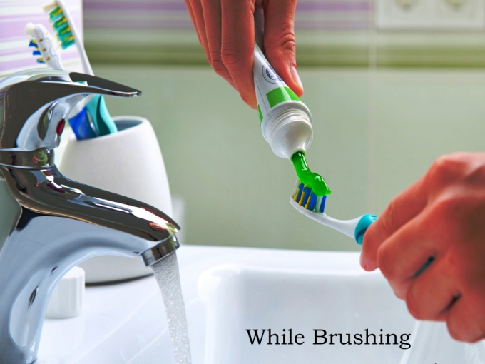 Use Water Wisely While brushing