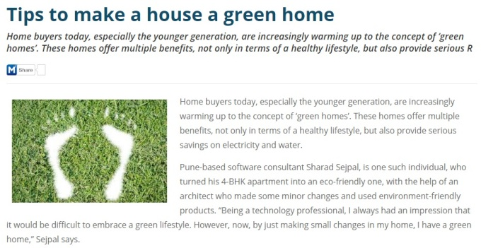Tips to make a house a green home